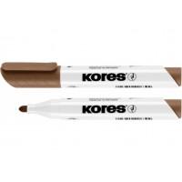 Маркер для білих дошок Kores 2-3мм коричневий (К20838)