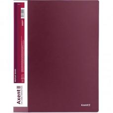 Дисплей-книга 20 файлів, бордова