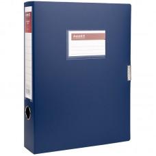 Папка-коробка 60 мм, синя