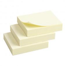 Блок паперу з клейким шаром 50x40мм,100арк,3шт,жов