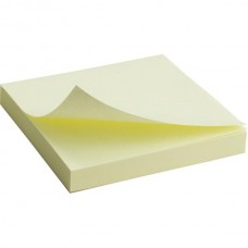 Блок паперу з клейким шаром 75x75мм, 100арк., жовт