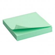 Блок паперу з клейким шаром 75x75мм, 100арк., зел