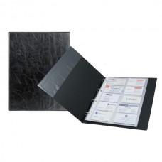 Візитниця на кільцях 2504-01, А4 (200 віз.) чорна