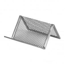Підставка для візиток 95x80x60мм, металева, срібляста