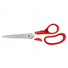 Ножиці Shell, 18 см, біло-червоні