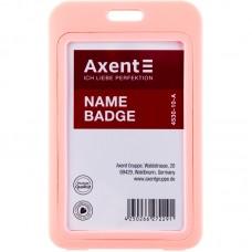 Бейдж вертикальний, PP, рожевий, 4530 (50х84мм)