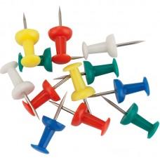 Кнопки-цвяшки, кольорові, 50шт., пласт. контейнер