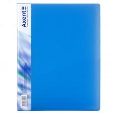 Папка з затиском, А4, прозора синя