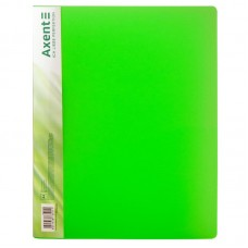 Папка з затиском, А4, прозора зелена