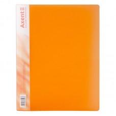 Папка з затиском, А4, прозора помаранч