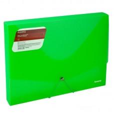 Папка на гумках об'ємна, А4, прозора зелена