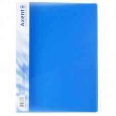 Папка-швидкозшивач А4, прозора синя