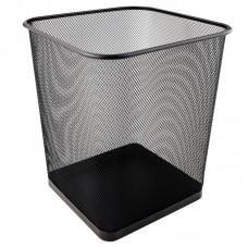Корзина для паперу квадратна 270x300мм метал., чорна