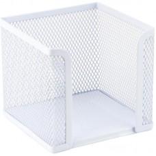 Куб для паперу 100х100x100мм, металевий, білий