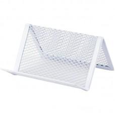 Підставка для візиток 95x80x60мм, металева, біла