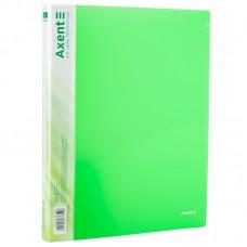 Папка на 2-х кільцах, 25мм, прозора зелена