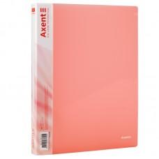 Папка на 2-х кільцах, 25мм, прозора рожева