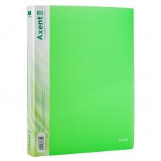 Папка на 4-х кільцях, 35 мм, прозора зелена