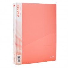 Папка на 4-х кільцях, 35 мм, прозора рожева