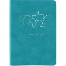 Книга записна Nuba Strong, 115*160, 96 арк., кл., блакитна