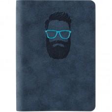 Книга записна Nuba Soft, 115*160, 96 арк., кл., синя