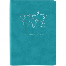 Книга записна Nuba Soft, 115*160, 96 арк., кл., блакитна