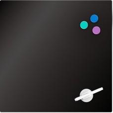 Дошка скляна магнітно-маркерна 45х45 см, чорна
