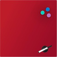 Дошка скляна магнітно-маркерна 45х45 см, червона