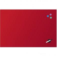 Дошка скляна магнітно-маркерна 60х90 см, червона