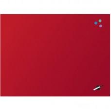 Дошка скляна магнітно-маркерна 90x120 см, червона