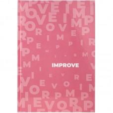 Книга записна А4, 96 арк., кл., Pastelini, рожева