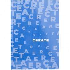 Книга записна А4, 96 арк., кл., Pastelini, блакитна