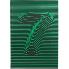 Книга записна А4, 80 арк., кл., Numbers, зелена