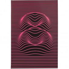 Книга записна А4, 80 арк., кл., Numbers, рожева