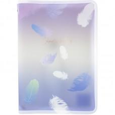 Папка об'ємна на блискавці А4+, Colourful Feather 03