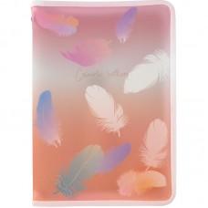 Папка об'ємна на блискавці А4+, Colourful Feather 04