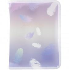 Папка об'ємна на блискавці А5+, Colourful Feather 03