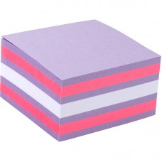 Блок паперу з клейким шаром 75x75 мм,450 арк,асорті-3