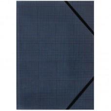 Папка на гумках, А4+, Tartan Blue