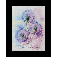 Блокнот FLOWERS LANGUAGE А-6 64 арк. клітинка тверда обкладинка