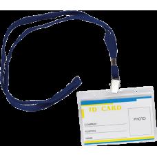 Бейдж-ідентифікатор горизонтальний зі шнурком для кріплення