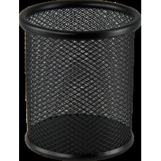 Підставка для ручок кругла металева чорна