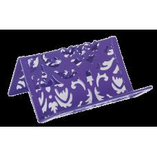 Підставка для візиток металева фіолетовa