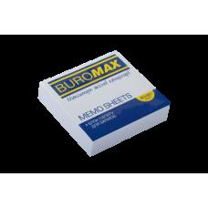 Блок білого паперу для нотаток, JOBMAX, 80х80х20мм, білий, склеєний