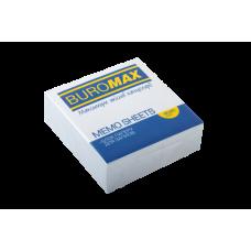 Блок білого паперу для нотаток, JOBMAX 90х90х30мм, склеєний