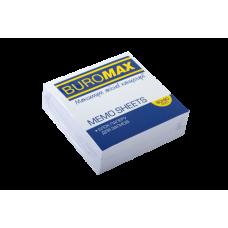 Блок білого паперу для нотаток, JOBMAX, 90х90х30мм, не склеєний