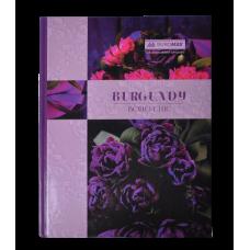 Книга канцелярська BOHO CHIC, А4, 96 арк., клітинка, офсет, тверда ламінована обкладинка, фіолетова