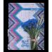 Книга канцелярська ROMANTIC, А4, 96 арк., клітинка, офсет, тверда ламінована обкладинка, синя