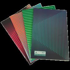 Зошит канцелярський, JOBMAX, А4, 48 арк., клітинка, офсет, картонна обкладинка, асорті