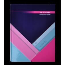 Книга канцелярська MODEST,  А4, 144 арк., клітинка, офсет, тверда ламінована обкладинка,темно-синя